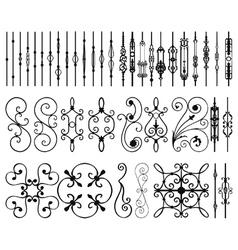 Iron railing panels and bars vector image