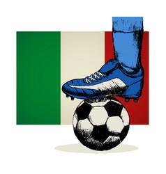 Italy soccer team symbol vector