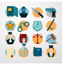 Law Icons Flat vector image