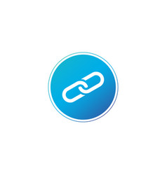 link icon in nice blue circle chain logo isolated vector image