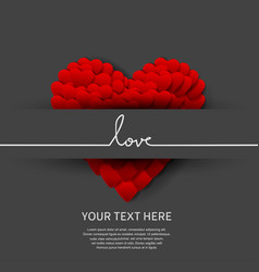 Love design on black background with big heart vector