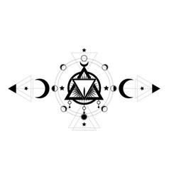 Masonic symbol sacred vagina wiccan icon vector