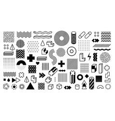 memphis geometric shapes trendy graphic element vector image