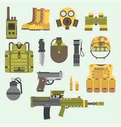 military weapon guns armor forces american fighter vector image