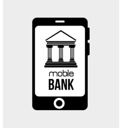 Mobil bank virtual money isolated vector