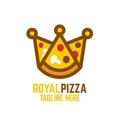 modern pizza and crown vector image