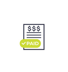 paid bills icon vector image