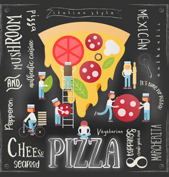 pizza pizzeria menu vector image