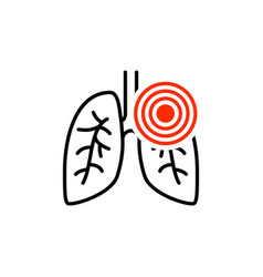Pneumonia respiratory inflamed icon asthma vector