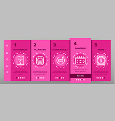 refund e-payment system onboarding vector image
