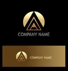 round letter a triangle business logo vector image