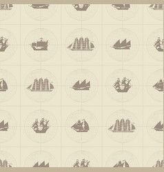 Seamless pattern on theme nautical travel vector