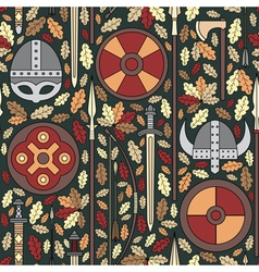 Seamless viking pattern 05 vector
