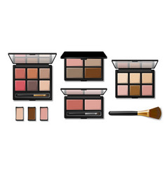 Set eyeshadow palette for makeup realistic 3d vector