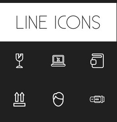 Set of 6 editable shopping icons includes symbols vector