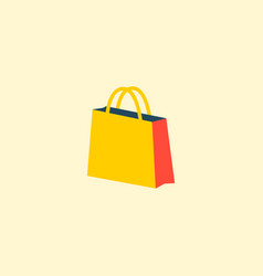 shopping bag icon flat element vector image