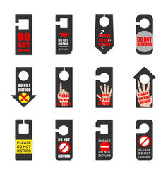 sign hanger with different designs on a dark vector image