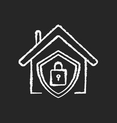smart home security system chalk white icon vector image