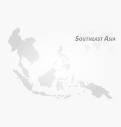 Southeast asia map high detail dot design vector