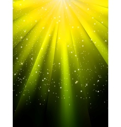 Stars on yellow background vector