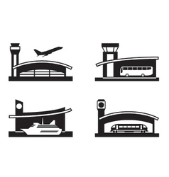 Stations of public transport vector image