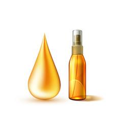 Sunscreen sunblock spray mockup oil dropt vector
