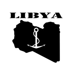 Symbol of libya and map vector
