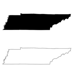 Tennessee tn state map usa vector