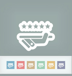 Top quality service icon vector
