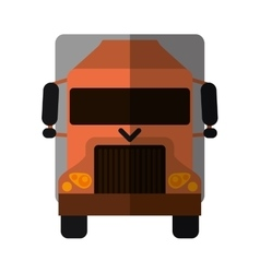 Truck delivery shipping cargo shadow vector