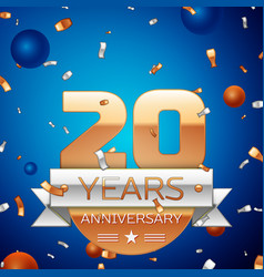Twenty years anniversary celebration design vector