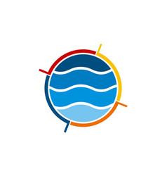 Water solution logo design template vector