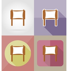 Wooden board flat icons 08 vector