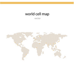 world cell map vector image