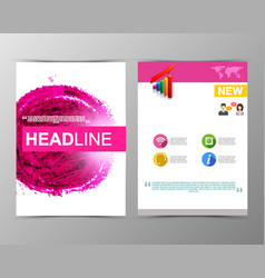 abstract watercolor geometric brochure template vector image vector image