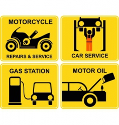 autoservice motorcycle repair vector image