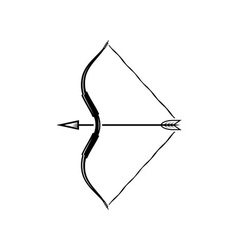bow weapon with arrow vector image