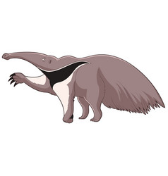 cartoon smiling anteater vector image
