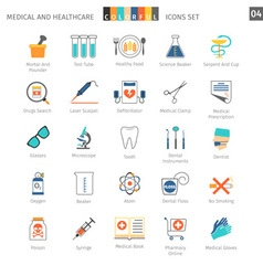 Medical Colorful Icons Set 04 vector image vector image