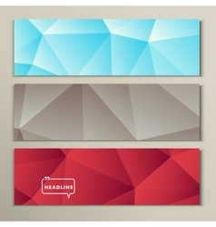 Set bright abstract image of gray blue red vector image vector image