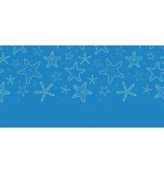 Starfish blue texture horizontal seamless pattern vector image