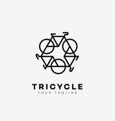 Tricycle logo vector