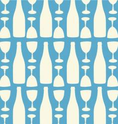 wine and wine glasses pattern vector image
