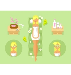 Woman spa design flat vector image