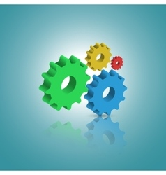 Abstract template with gears vector image