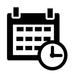 calendar icon on white background calendar sign vector image vector image