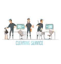 cleaning service design cconcept vector image