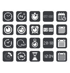 clock timers calendar icons vector image