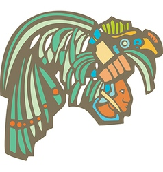 Mayan Warrior Head vector image vector image