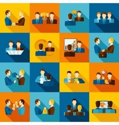 Partnership Flat Icons vector image vector image